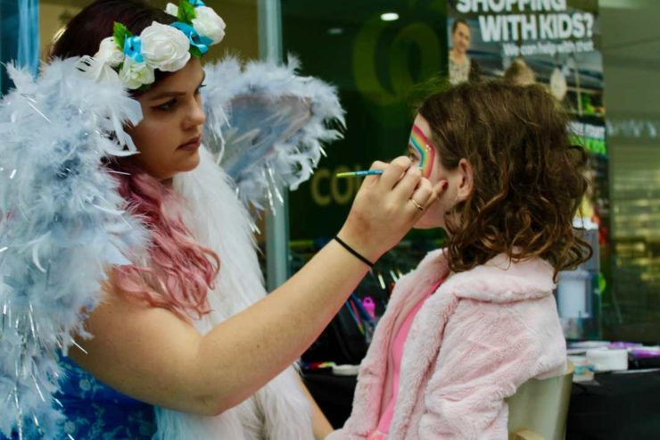 George Phillips: Face painting, Highbury Mall
