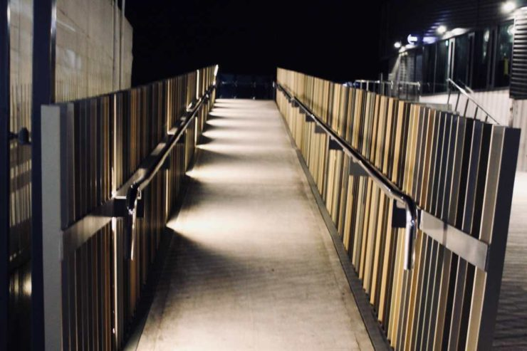 George Phillips Walkway, Night-time