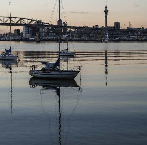 Quiet Waitemata Harbour and Yachts