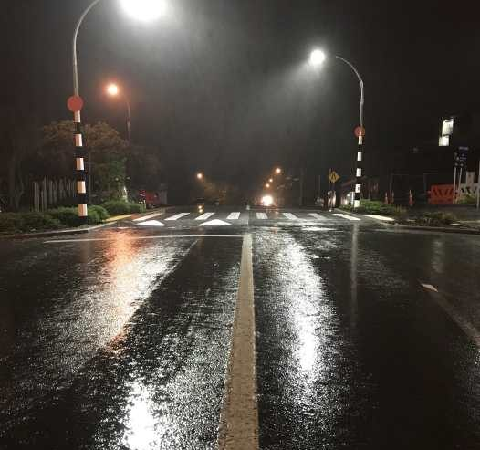 Carolyn Glasson Rawene Road in the Rain